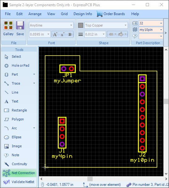 how to link schematic to pcb in expresspcb